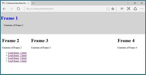 how to divide a web page in html using frames | Nakanak