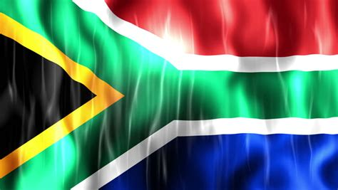 South Africa Flag, Ultra Hd, Stock Footage Video (100%