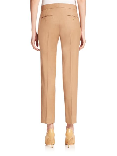 Max mara Aldeno Wool Ankle Pants in Natural | Lyst