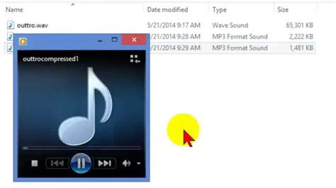 Compress audio file to reduce file size and optimize for