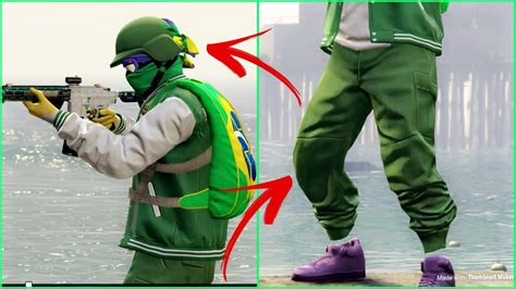 """*EASY + FAST* """"GTA 5 Green TryHard Outfit"""" [ How To Get"""