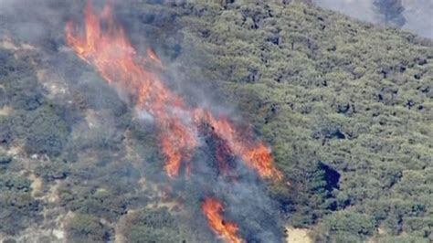 California wildfires: Aerial footage of wildfires raging