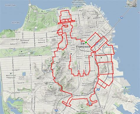 San Francisco cyclist uses GPS app Strava to map out