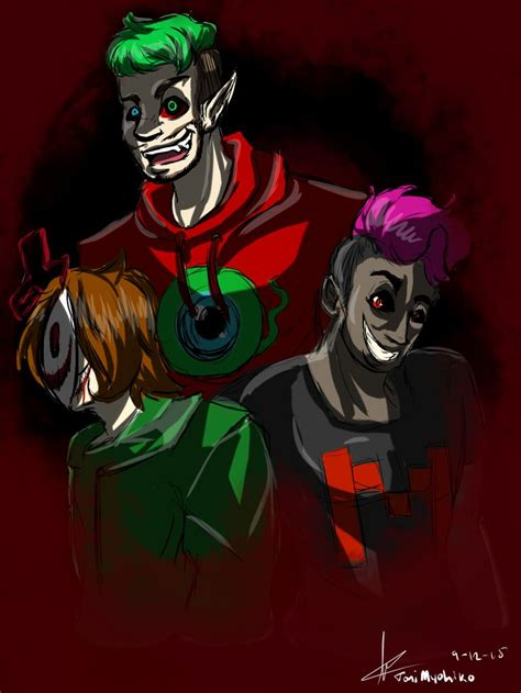 Cry, Darkiplier, and Antisepticeye