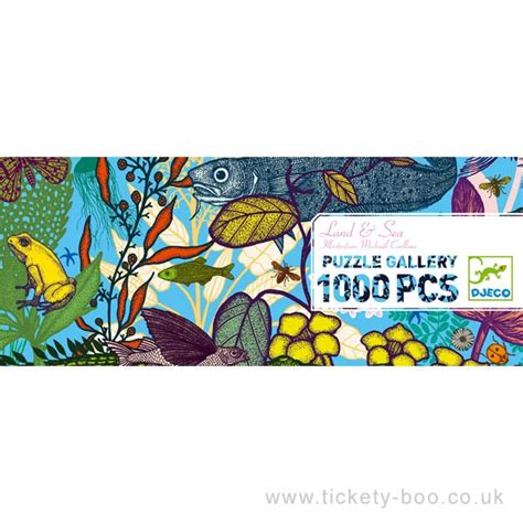 1000 pcs Land and Sea Gallery Puzzle by Djeco
