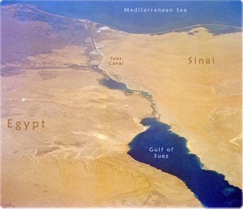 Egypt Map Africa - Cairo, Nile River and Suez Canal