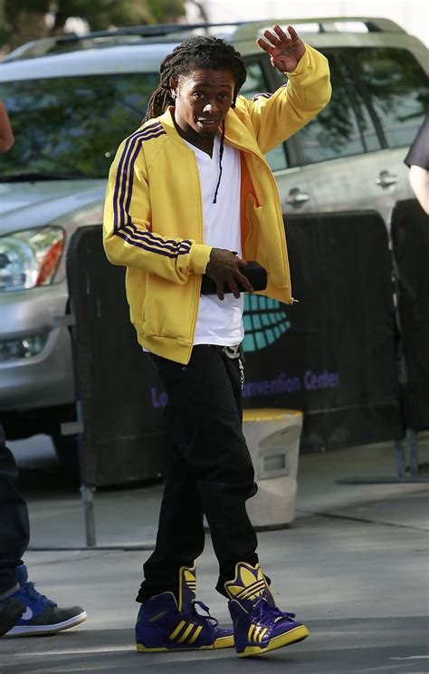 Lil Wayne Leather Sneakers - Lil Wayne Athletic Shoes