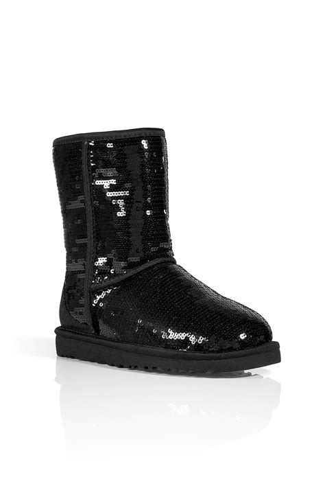 Lyst - Ugg Black Sequin Classic Short Sparkles Boots in Black
