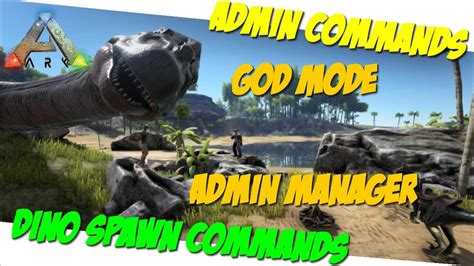 Admin Manager/God/Dino + Item Spawn Commands/Cheats PC/PS4