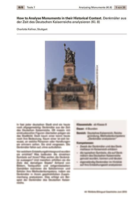 How to Analyse Monuments in their Historical Context