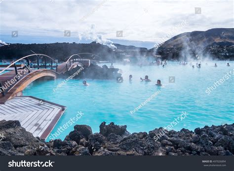 Blue Lagoon Geothermal Spa One Most Stock Photo 497026894