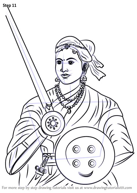 Learn How to Draw Rani of Jhansi (Other People) Step by